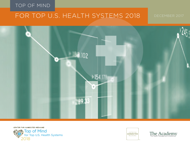 image from Top Of Mind For Top U.S. Health Systems 2018