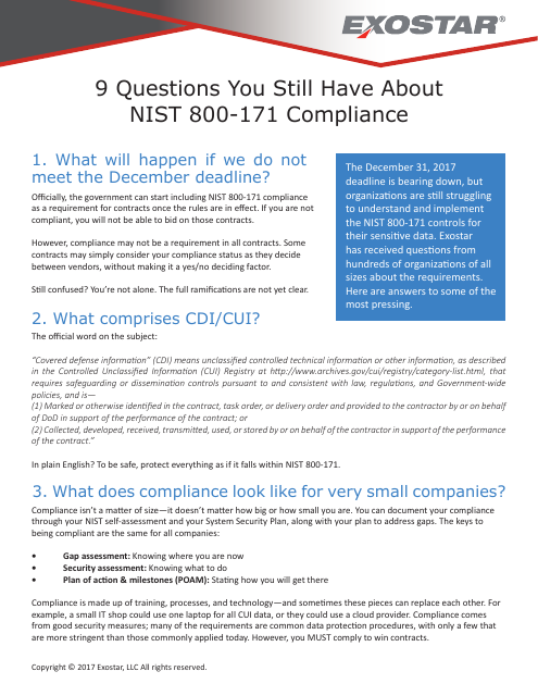 image from 9 Questions You Still Have About NIST 800-171 Compliance
