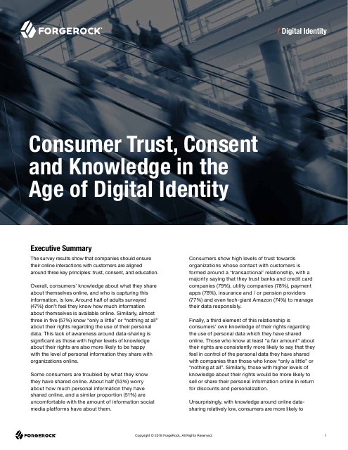 image from Consumer Trust, Consent and Knowledge in the Age of Digital Identity