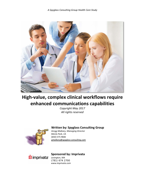 image from High-value, Complex Clinical Workflows Require Enhanced Communications Capabilities