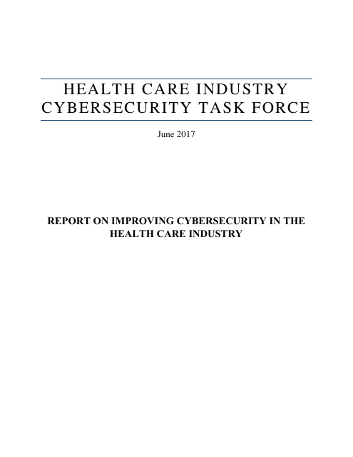 image from Report On Improving Cybersecurity In The Health Care Industry