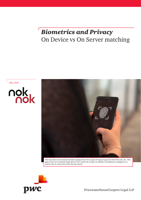 image from Biometrics And Privacy: On Device vs On Server matching