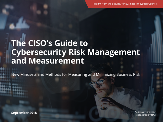 image from The CISO's Guide To Cybersecurity Risk Management and Measurement