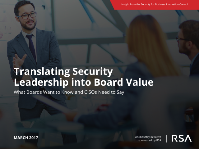 image from Translating Security Leadership into Board Value