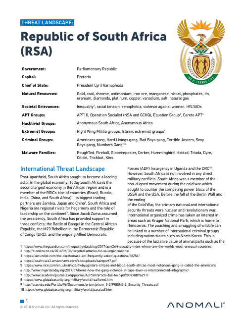 image from Threat Landscape: Republic of South Africa (RSA)