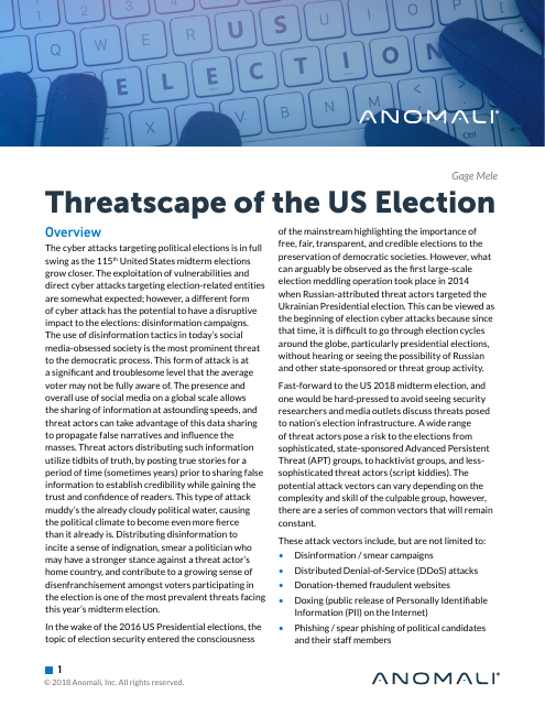 image from Threatscape Of The US Election
