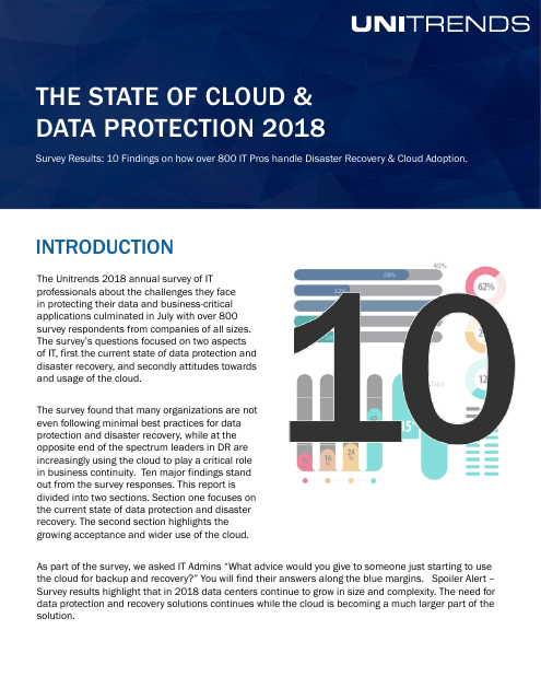 image from The State Of Cloud And Data Protection 2018