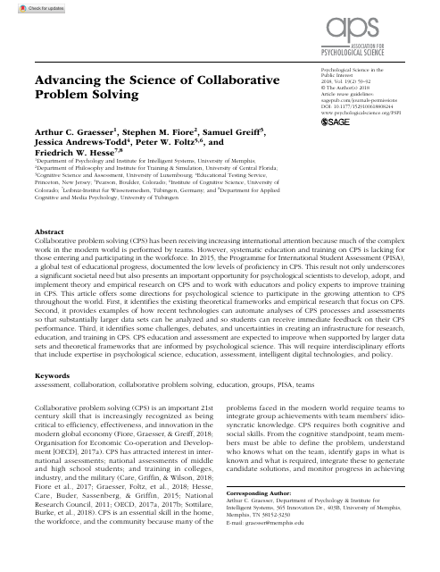 image from Advancing the Science of Collaborative Problem Solving