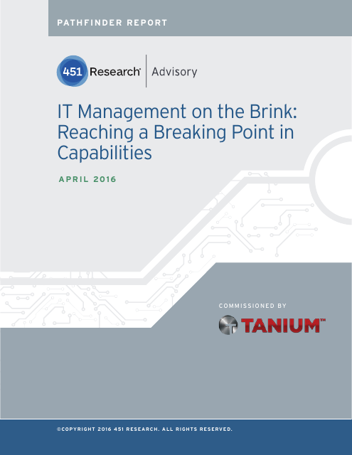 image from IT Management on the Brink: Reaching a Breaking Point in Capabilities