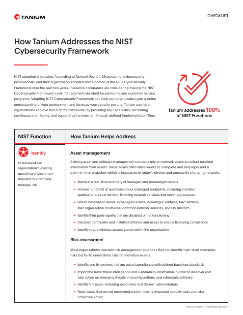 image from How Tanium Addresses the NIST Cybersecurity Framework
