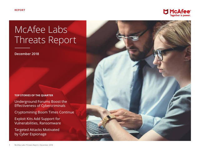 image from McAfee Labs Threats Report - December 2018