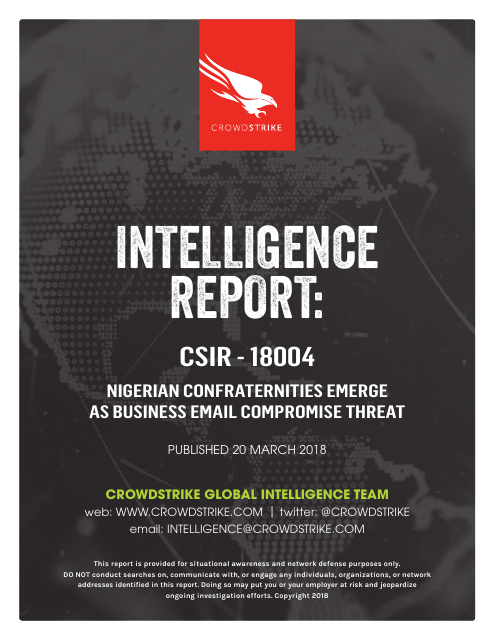image from Intelligence Report: CSIR-18004 Nigerian Confraternities Emerge