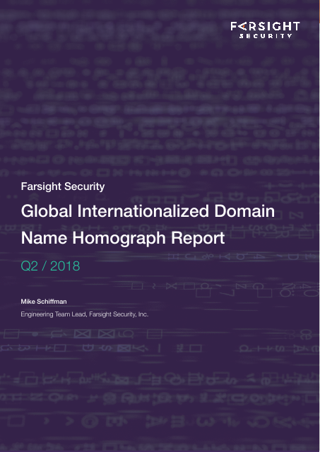 image from Global Internationalized Domain Name Homograph Report Q2/2018
