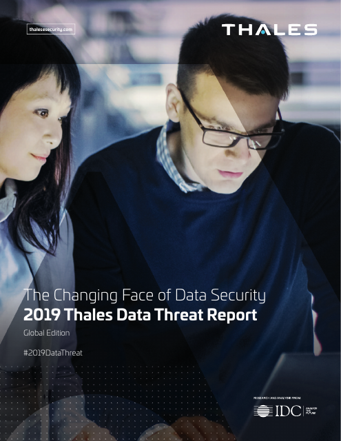image from The Changing Face of Data Security:2019 Thales Data Threat Report Global Edition
