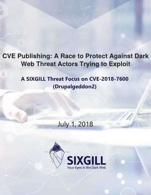 image from CVE Publishing: A Race to Protect Against Dark Web Threat Actors Trying to Exploit