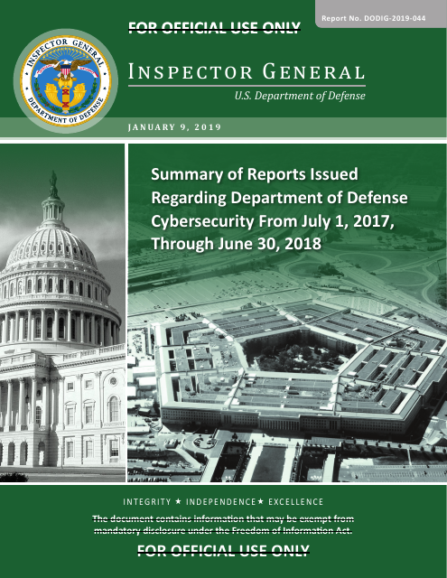 image from Summary of Reports Issued Regarding Department of Defense Cybersecurity from July 1, 2017, Through June 30, 2018