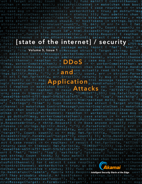 image from State of the Internet/security Volume 5, Issue 1: DDOS and Application Attacks