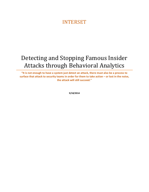 image from Detecting and Stopping Famous Insider Attacks through Behavioral Analytics