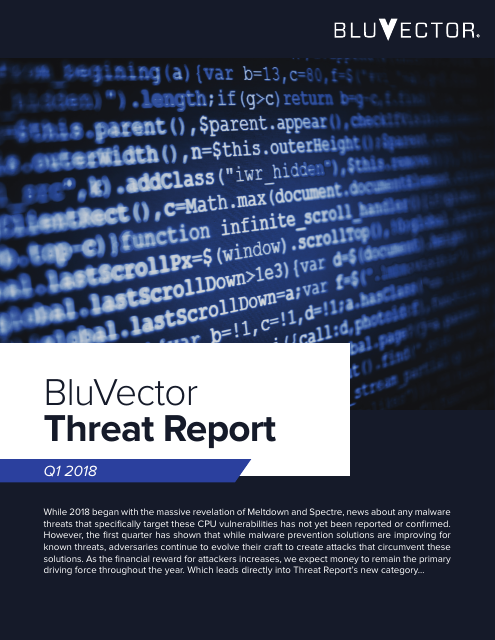 image from BlueVector Threat Report Q1 2018