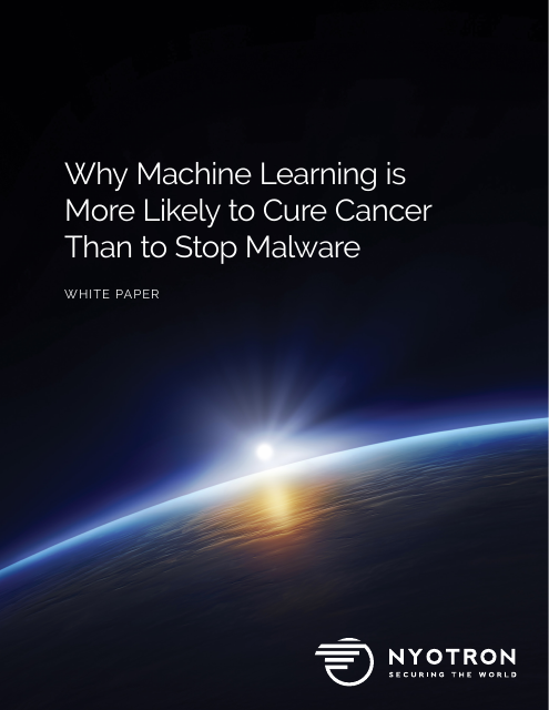 image from Why Machine Learning is More Likely to Cure Cancer Than to Stop Malware