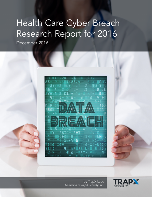 image from Health Care Cyber Breach Research Report for 2016