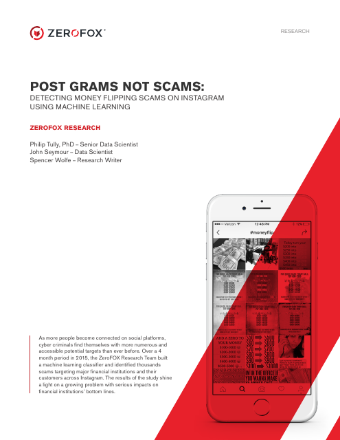image from Post Grams Not Scams: Detecting Money Flipping Scams On Instagram Using Machine Learning
