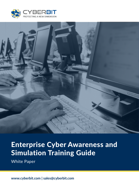 image from Enterprise Cyber Awareness and Simulation Training Guide