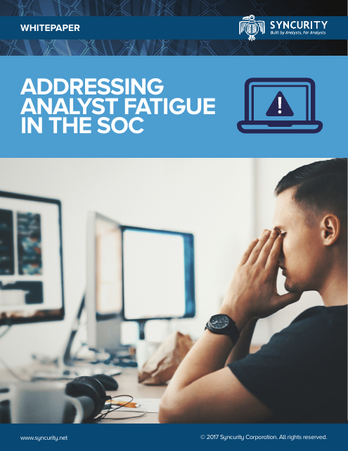 image from Addressing Analyst Fatigue In The SOC