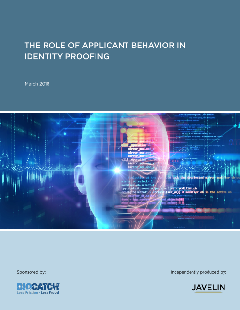 image from The Role Of Applicant Behavior In Identity Proofing
