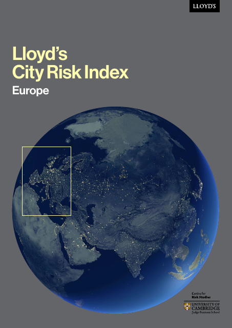 image from Lloyds City Risk Index: Europe