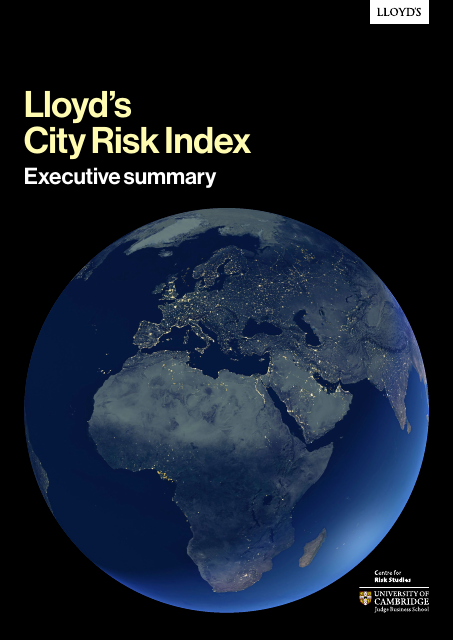 image from Lloyd's City Risk Index: Executive Summary