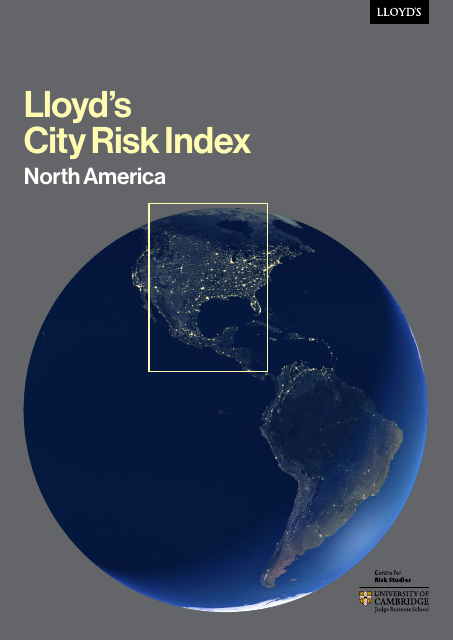 image from Lloyd's City Risk Index: North America
