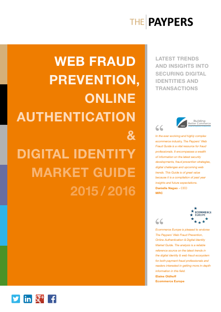 image from Web Fraud Prevention, Online Authentication & Digital Identity Market Guide 2015/2016