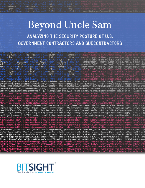 image from Beyond Uncle Sam: Analyzing The Security Posture Of U.S. Government Contractors And Subcontrators
