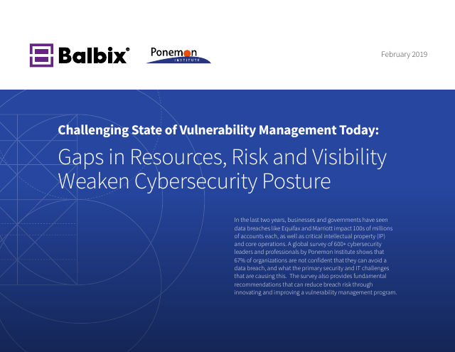 image from Challenging State Of Vulnerability Management Today
