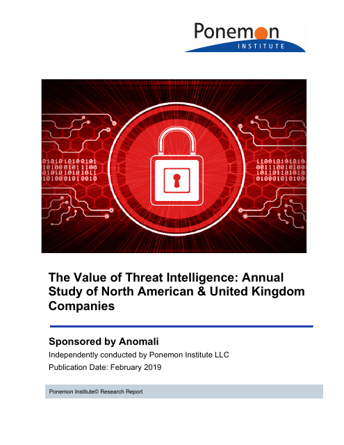 image from The Value of Threat Intelligence: Annual Study of North American & United Kingdom Companies