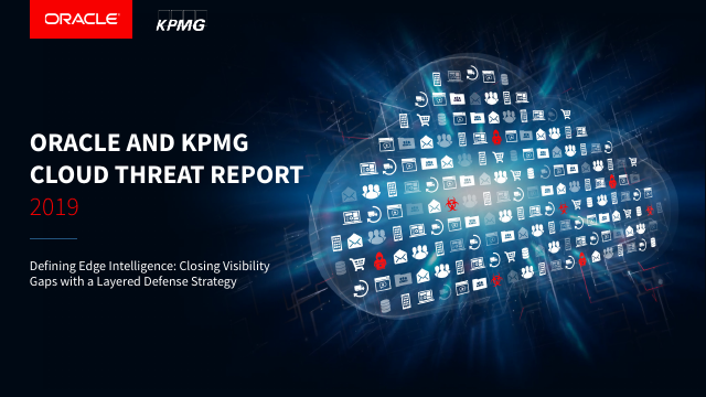 image from Oracle and KPMG Cloud Threat Report 2019