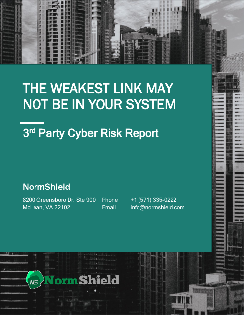 image from The Weakest Link May Not Be In Your System:3rd Party Cyber Risk Report