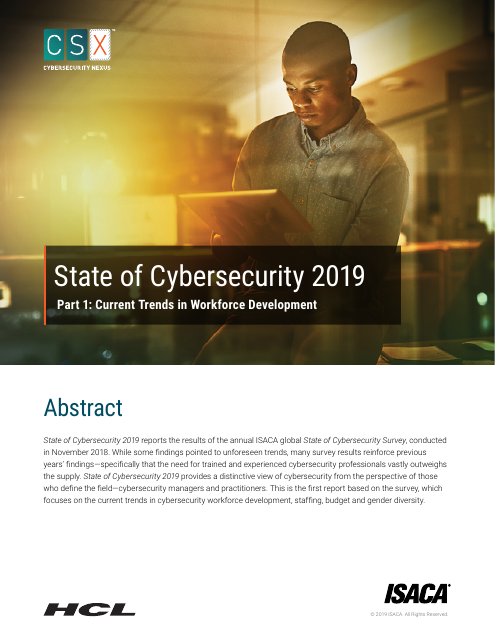image from State of Cybersecurity 2019: Part 1:Current Trends in Workforce Development