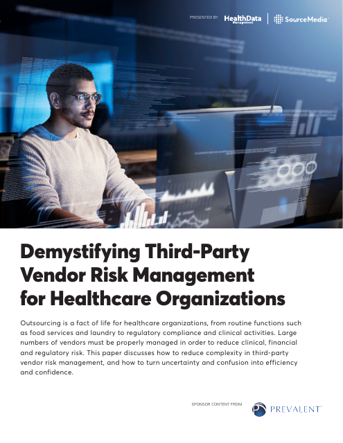 image from Demystifying Third-Party Vendor Risk Management for Healthcare Organizations