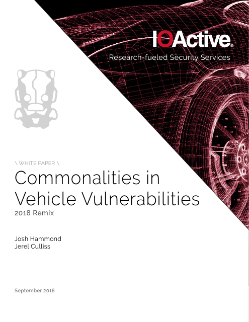 image from Commonalities in Vehicle Vulnerabilities