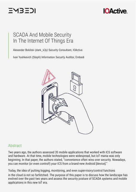 image from SCADA And Mobile Security In The Internet Of Things Era