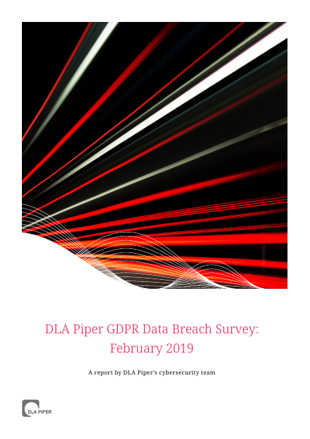 image from DLA Piper GDPR Data Breach Survey: February 2019