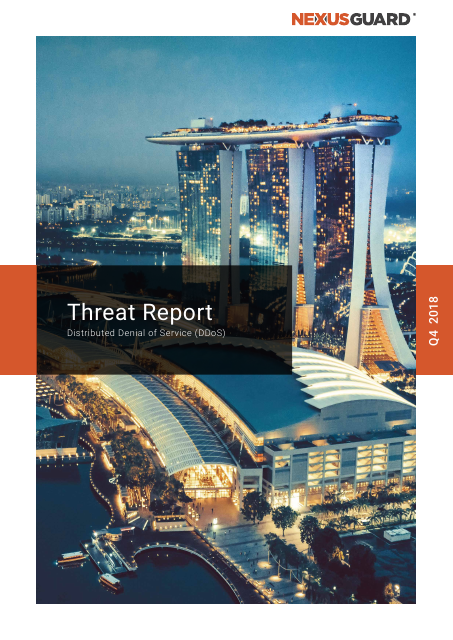 image from DDoS Threat Report Q4 2018
