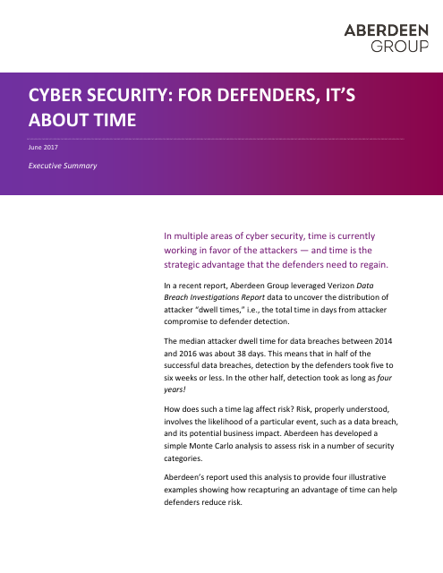 image from Cyber Security: For Defenders, It's About Time