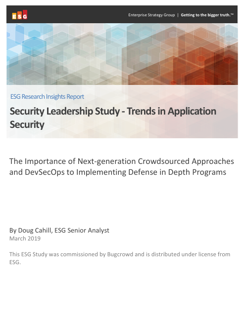 image from Security Leadership Study - Trends in Application Security
