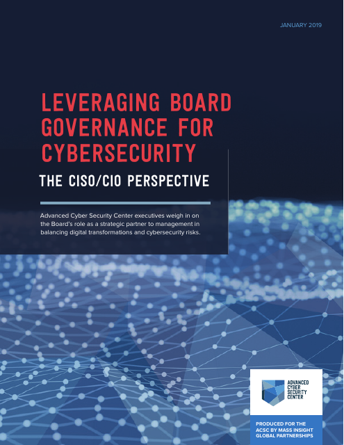 image from Leveraging Board Governance For Cybersecurity: The CISO/CIO Perspective