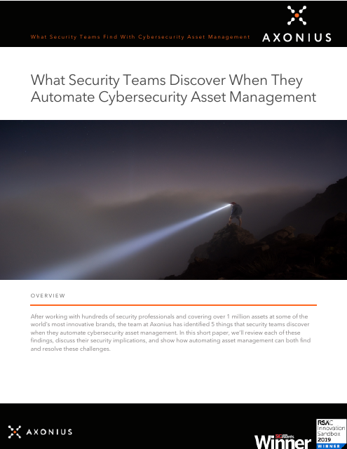 image from What Security Teams Discover When They Automate Cybersecurity Asset Management