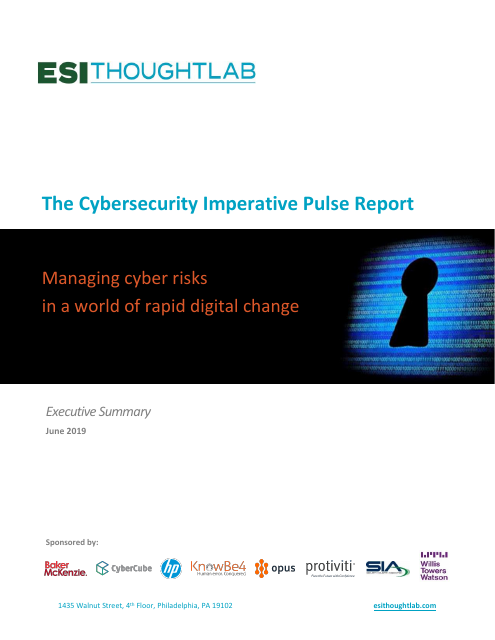 image from The Cybersecurity Imperative Pulse Report