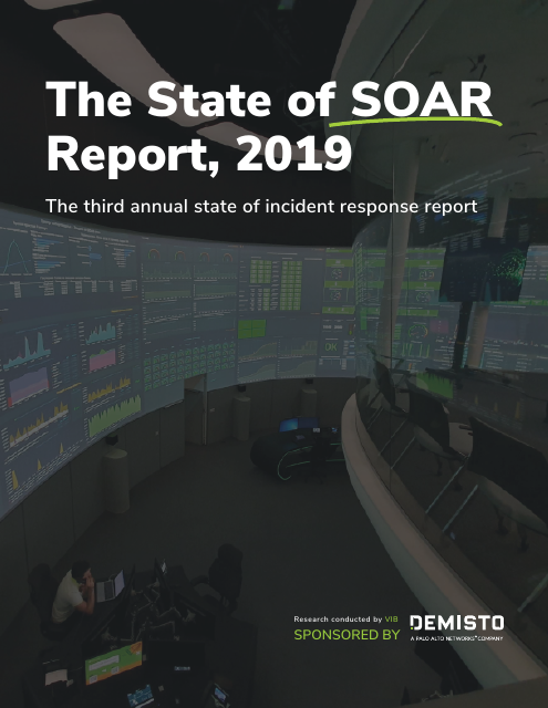 image from The State of SOAR Report, 2019